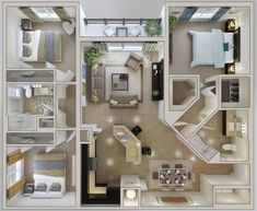 Small Three Bedroom House Plans – 2018 House Plans and Home Design Ideas 3d House Plans, House Layout Plans, Family House Plans, Bedroom House Plans, Small House Plans, Family Houses, House Blueprints, 3 Bedroom Home Floor Plans, Cabin Plans