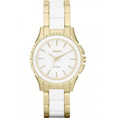 3a98e0c3e31 Dkny Women s NY8829 Two-Tone Ceramic Analog Quartz Watch Stainless Steel  Case