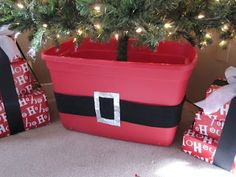 Christmas Tree Storage Box Rubbermaid Fascinating Red Rubbermaid Tote For Standing Tree Inhides The Base And Looks 2018