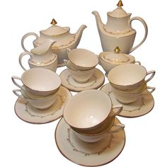 Royal Doulton Rondo Tea and Coffee Service for Eight from martybee on Ruby Lane