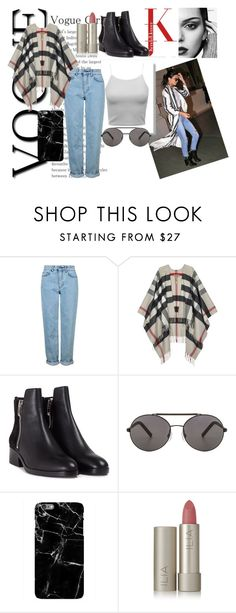 """""""Kendall Inspired Look"""" by isabellabos ❤ liked on Polyvore featuring Topshop, Burberry, 3.1 Phillip Lim, Seafolly and Ilia"""