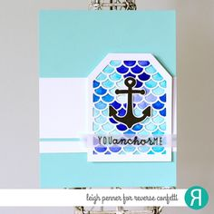 Card by Leigh Penner. Reverse Confetti stamp set: Seaside. Confetti Cuts: Seaside and Scalloped Layer Tag. Anniversary card. Valentine's Day card. Friendship card.