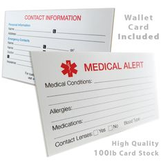 Free Printable Medical ID Cards | Medical ID Wallet Size Cards ... on ohio cdl physical form, health certificate form, blank dot physical form, dot registration form, dot release form, athletic physical form, standard tattoo release form, wa motorcycle title form, dot driver physical form, blank school report form, blank history and physical form,