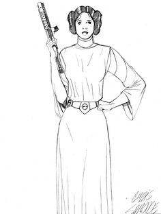 star wars princess leia coloring pages Princess Leia coloring