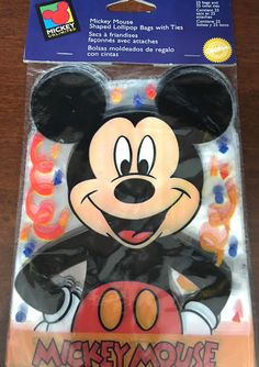 Wilton Mickey Mouse 25 Lollipop Candy Snack Treat Bags And Twist Ties Vintage 97 #Wilton #lollipopbags #mickeymouse #disneymickeymouse