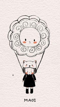 Dont Touch My Phone Wallpapers, Cute Wallpapers, Kawaii Doodles, Simple Cartoon, Dibujos Cute, Sad Art, Cute Chibi, Manga Illustration, Cute Gif