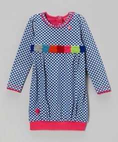 Take a look at this Blue Plaid Dress by Mim Pi on #zulily today!