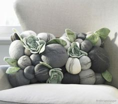 Beautiful. Need for my gray couch someday!!