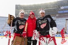 Winter Classic practice at the Big House (12/31/13)