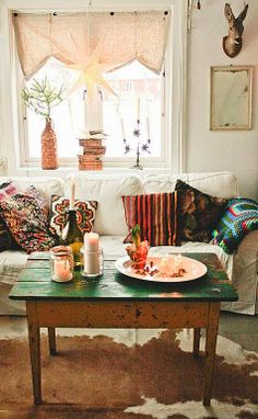Nice entertained Boho Home Decor See our products Nice entertained Boho Home Dec. Room Inspiration, Home And Living, Decor, Interior Design, Vintage House, Home, Interior, Cozy House, Home Decor