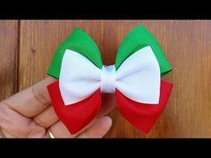 Maratón moño mexicano/moño tricolor No.5 - YouTube Ribbon Hair Clips, Hair Ribbons, Diy Hair Bows, Diy Bow, Candy Hair, Toddler Hair Clips, Christmas Hair Bows, Hair Bow Tutorial, Hair Creations