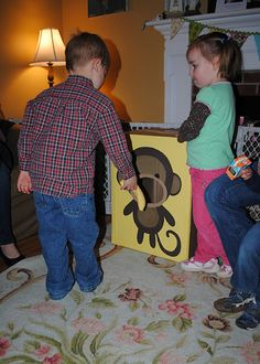 Monkey banana toss game or could be used to have kids take pictures in.