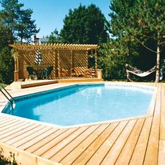 Semi Inground Pool Landscaping Ideas 24 39 Semi In Ground Pool Swimming Pools And Spas Patio