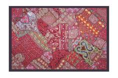 Traditionelle indische Designer Wandbehang Tapisserie mit Golden Zari, Stickerei & Old Sari Patchwork Abbildung Art, 152 x 101 cm Rajasthali http://www.amazon.de/dp/B00CP4XIGC/ref=cm_sw_r_pi_dp_MWDZvb1AZ8M7T