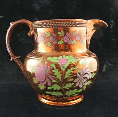 Copper Luster Pitcher Copper And Pink, English China, Water Into Wine, Wedgwood, Fine China, Antique Copper, Tea Set, Lancaster England, Decorative Accessories
