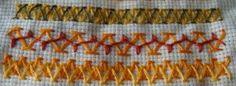 Chevron stitch sampler