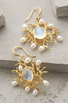 Gorgeous moonstone mirror earrings