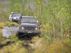 Land Rover 110 winching in Kola Peninsular, Russia