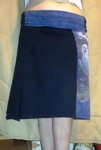 How to make a skirt. 2 T Shirt Skirt, Yoga Style Band - Step 7
