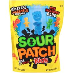 Sour Patch Kids - First they're sour. Then they're sweet. Sour Patch Kids are a fun, soft, and chewy candy for children and adults. These Sour Patch Kids packs are extremely portable and ready for immediate action. Best Candy, Favorite Candy, Kid Cupcakes, Chewy Candy, Sour Patch Kids, Sour Candy, Candy Bags, Goodie Bags, Gourmet Recipes