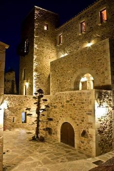 Traditional tower in Mani, Greece