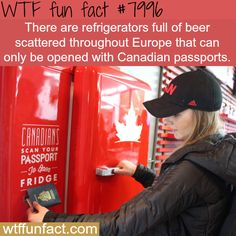Refrigerators that give free beer, only opens to Canadians - WTF fun fact