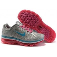 Nike Wmns Air Max 2011 Mesh gray/blue-pink running shoes sales