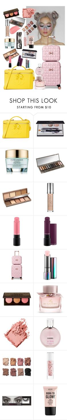 """my makeup bag"" by ababneh-rose ❤ liked on Polyvore featuring beauty, Anastasia Beverly Hills, Estée Lauder, Urban Decay, MAC Cosmetics, Ted Baker, Burberry, Bobbi Brown Cosmetics, Chanel and Illamasqua"
