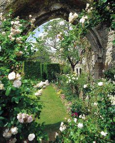 Amberley Castle Garden, West Sussex, UK