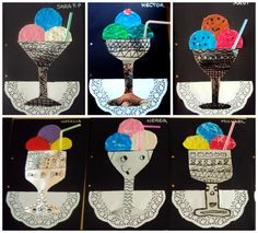 Love These ice cream Collages!