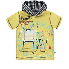 Hooded short-sleeve jersey T-shirt / T-shirt à manches courtes à capuchon en jersey