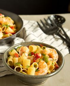 Give your classic Italian pasta a Spanish tapas twist with this recipe that uses both shrimp and chorizo.