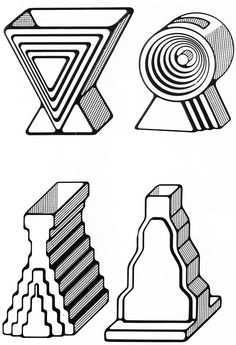 Ettore Sottsass, 'Tantra' and 'Yantra' Ceramic Flower Vases, 1969-1970