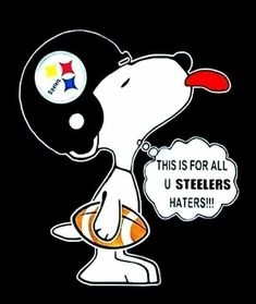 Cartoon Movie Characters, Fictional Characters, Pittsburgh Steelers Logo, Steel Curtain, Steeler Nation, Charlie Brown And Snoopy, Football Team, Nfl, Peanuts