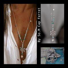 Les sautoirs - By So.M Cap Ferret, création bijou unique, fait main, Bassin d'Arcachon, Femme, Homme, enfant, perles pierres semi-précieuses, argent ....