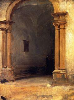The Athenaeum - An Archway (John Singer Sargent - ) 1879-1880