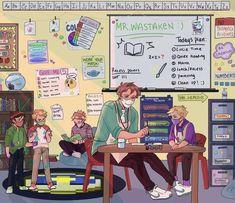 My Dream Team, Just Dream, Dream Friends, Minecraft Fan Art, Dream Art, Art Memes, Oui Oui, Anime, Cute Drawings