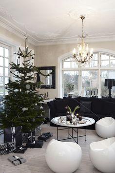 Deco de Noël / Trendy christmas in Black and white