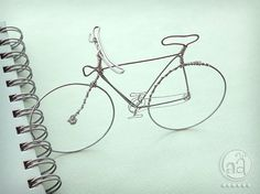BICYCLE Wire Art Hand Sculpted Detailed Wire Bike by artsyants, $17.50