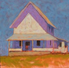 """Summer Camp"", oil on canvas, 24x24 by Peter Batchelder in the ""En Plein Air"" Exhibition"