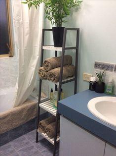 Hack, the 4 tier shelf. The colour is Dulux Ratu. : KMART Hack, the 4 tier shelf. The colour is Dulux Ratu.KMART Hack, the 4 tier shelf. The colour is Dulux Ratu. : KMART Hack, the 4 tier shelf. The colour is Dulux Ratu. Kmart Bathroom, Small Bathroom Storage, Bathrooms, Bathroom Gray, Design Bathroom, Small Storage, Bathroom Rugs, Bath Rugs, Bathroom Cabinets