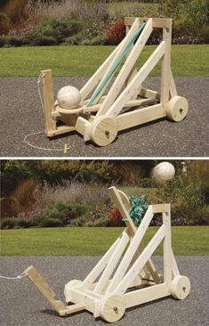 This catapult is based on early tension power catapults. This woodworking plan uses very large rubber bands for its power source. This project can launch a volleyball or soccer ball up to 60 feet! Wood Projects For Kids, Woodworking Projects For Kids, Custom Woodworking, Woodworking Plans, Project Projects, Japanese Woodworking, Woodworking Chisels, Woodworking School, Youtube Woodworking