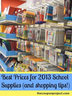 Best prices for school supplies and free download printable list. #backtoschool