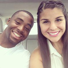 Interracial couple. Love.