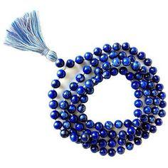 ICYMI: Lapiz Mala Prayer Or Meditation Beads Natural Gemstone Japamala Rosary Gemstone Necklace, Gemstone Beads, Beaded Necklace, Beaded Bracelets, Rosary Necklace, Crystals And Gemstones, Stones And Crystals, Natural Gemstones, Healing Crystals