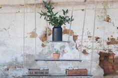 3 Tier Hanging Shelves, www.at-life.co.za #theatLIFEbrand  #decor #interiordecorating #ecofurniture #greenfurniture #recycled furniture #rusticdecor #rusticinteriors Eco Furniture, Green Furniture, Recycled Furniture, Recycled Wood, Hanging Shelves, Rustic Interiors, Rustic Decor, Ladder Decor, Recycling
