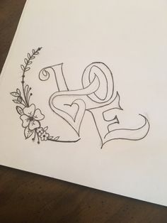 Best 11 Quotes for Fun QUOTATION – Image : As the quote says – Description Caligraphie coeur Sharing is love, sharing is everything – SkillOfKing. Easy Love Drawings, Word Drawings, Art Drawings Sketches Simple, Pencil Art Drawings, Disney Drawings, Letter Art, Tag Art, Doodle Art, Word Art