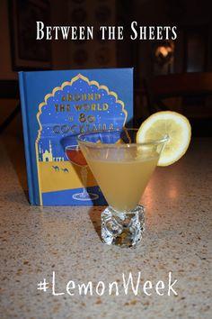 A Day in the Life on the Farm: Between the Sheets #LemonWeek Gin Lemon, Fresh Lemon Juice, Lemon Dessert Recipes, Lemon Recipes, Cocktail Recipes, Cocktails, Drinks, Between The Sheets, Recipe Generator