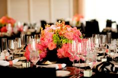 Wedding Reception Tables & Venue. Four Seasons Santa Barbara Biltmore Resort