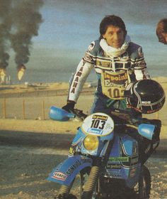 Serge Bacou Paris-Dakar 1982. Yamaha 500 XT
